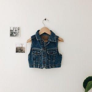 Vintage Levei's Denim Vest- Size 2T